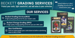 Beckett Card Grading Service, 10 day turn around,  SPECIFY IN PURCHASE NOTES WHICH CARD/BREAK ID, AUG152017GRADELIST