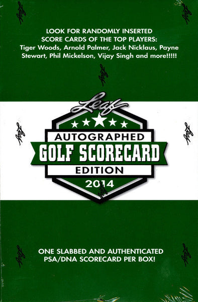 2014 Leaf Autograph Scorecard Ed Golf Box ID 14SCORECARD101