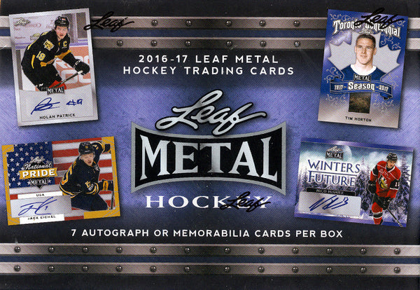 2016/17 Leaf Metal Hockey Box 17 Total Spots (9.50 Per Last Name Letter) ID 16LMH259