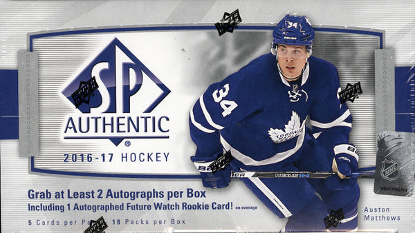 2016/17 Upper Deck SP Authentic Hockey ($7.99 PER TEAM, all teams in, all cards ship) ID OCTSPAUTHHOCK102