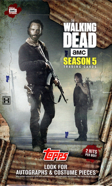 2016 Topps The Walking Dead Season 5 ($7.25 per checklist character, 18 total spots) ID NOVDEAD101