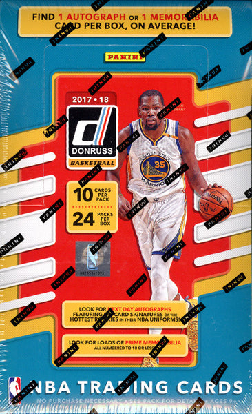 2017/18 Panini Donruss Basketball ($4.99 per team, all teams in, all cards ship) ID PANDONBSKTBLL101