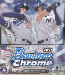 2017 Bowman Chrome Baseball Hobby Box Pick Your Team ID 17BCHOB116