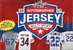 2017 Leaf Autographed Jersey Multi-Sport Edition Box 19 TOTAL Spots (10.75 Per Last Name Letter) ID 17LMSJ102