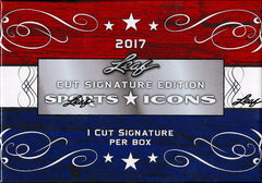 2 BOX BREAK: 2017 Leaf Sports Icons Cut Signature Box ($9.99 per last name letter, 19 total spots) ID SPORTSICONS114