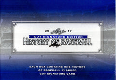 2017 Leaf History of Baseball Cut Signature Edition ($5.50 per last name letter, 19 total spots) ID CUTLEAFBB113