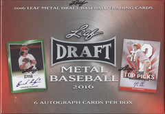 2016 Leaf Metal Draft Baseball ($8.50 PER 3 CHECKLIST PLAYERS, 19 TOTAL SPOTS, 57 CHECKLIST PLAYERSID LEAFMDBASE109