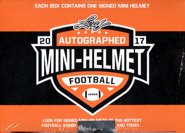 2 Mini Helmet Break: 2017 Leaf Autographed Mini Helmet ($7.99 per team) ID 17LEAFMINS906