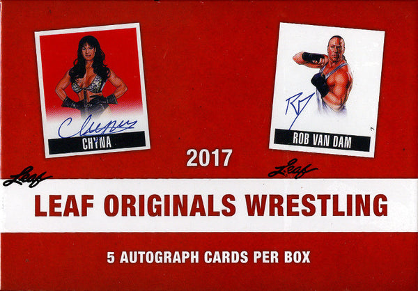 2017 Leaf Originals of Wrestling ($6.99 per 2 wrestlers, 21 total spots, 42 checklist wrestlers) ID LEAFWREST106