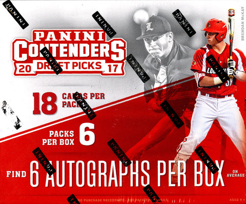 Tomorrow: PICK A PACK: 2017 Panini Contenders Draft Picks Baseball Hobby Box EVERY PACK HAS AN AUTOGRAPH ID PCDPBB106