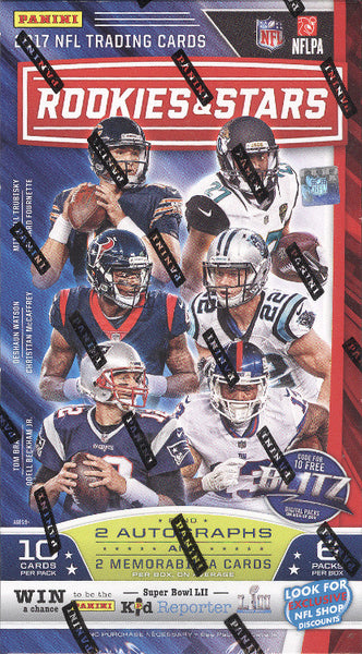 2017 Panini Rookies & Stars Football ($4.99 per team, all teams in) ID 17ROOKIESSTARS101