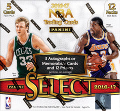 2016-17 Panini Select Basketball ALL CARDS SHIP ($5.99 PER TEAM, ALL TEAMS IN) ID PANSELECTBSK102