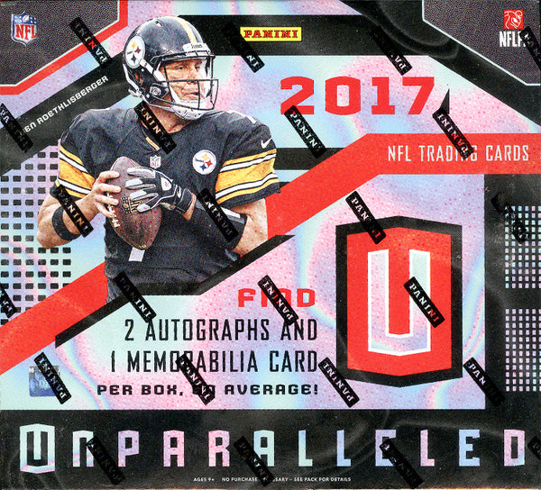 2017 Panini Unparalleled Football ($5.25 PER TEAM, all cards ship, all teams in) ID 17UNPARALLELED109