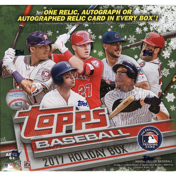 2 box break: 2017 Topps Holiday Baseball ID 17HOLBB101