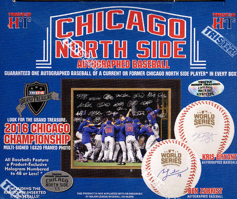 2017 Tristar Autographed Baseball Chicago North Side Box ($8.50 PER LAST NAME LETTER, 20 total spots) ID CUBSBALL111