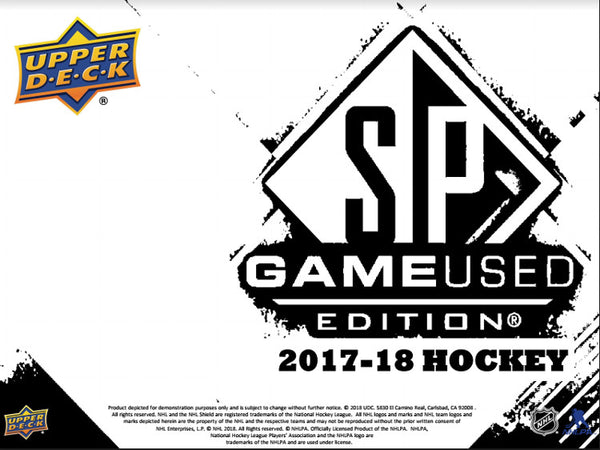 2017/18 Upper Deck SP Game Used Hockey Hobby Box (ALL 31 TEAMS IN) ID 18SPGUHOCK104