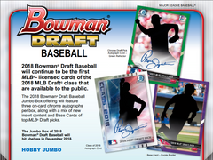 PICK YOUR TEAM: 2018 Bowman Draft Baseball Jumbo Box (CARDINALS BONUS RANDOM) ID 18BOWDRAFTPYT105