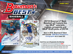PICK YOUR TEAM 2018 Bowmans Best Baseball Hobby Box (CARDINALS RANDOM BONUS) ID 18BOWBESTPYT116