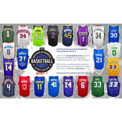 RANDOM TEAMS: 2018 GOLD RUSH AUTOGRAPHED BASKETBALL JERSEY EDITION SERIES 2 BOX ID 18GRBKBRT300