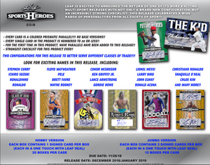 2018 Leaf Metal Sports Heroes Hobby Box ID 18LMSHOBBY715