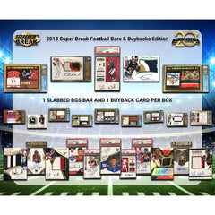 PERSONAL BOX ENTIRE BOX: 2019 SUPER BREAK FOOTBALL BARS & BUYBACKS EDITION HOBBY BOX ID SBFBBARSPER109