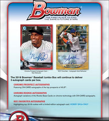 2018 Bowman Baseball JUMBO HTA, 26 teams, $18.50 per team, PAPER BASE DO NOT SHIP UNLESS OHTANI ID 18BOWMANBASEBALL203