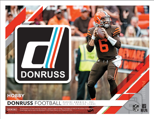 2 RANDOM TEAMS: 2019 Panini Donruss Football Hobby Box ID 19PADONFBRT104