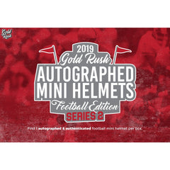 PICK YOUR TEAM: 2019 Gold Rush Autographed Football Mini Helmet Series 2 ID GRMINIHELPYT302