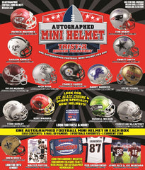 FRIENDLY 3 SPOT BONUS CARRYOVER BOX: 2 TEAM RANDOM 2019 Tristar H/T Football Mini Helmet ID 19TRISTARMIN428