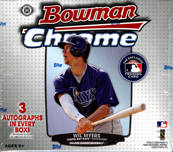 2013 Bowman Chrome Baseball JUMBO HTA box ($11.99 per team, all teams in) ID 13BOWCHROME101