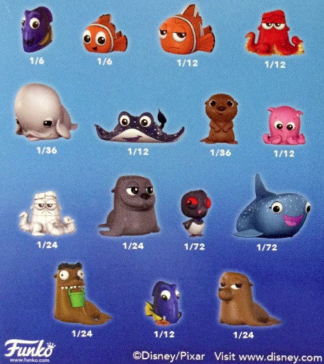 2016 Funko Finding Dory Mystery Mini  ($1.50 per character, 15 total spots) ID DORY102