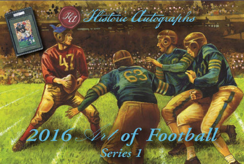 2016 Historic Autographs The Art of Football ($3.99 per 4 checklist names, 25 spots,100 total checklist names ID ARTFB200