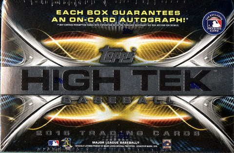 2016 Topps High Tek Baseball ($4.25 per team, 26 total teams) ID APRILTEK951