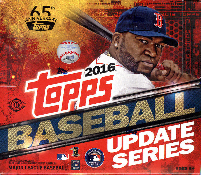 Standup Triple: 1 2016 Topps Update Baseball Jumbo Box and 2 2016 Topps Series 1 Boxes ($9.99 per team) ID TripleJUMBO103