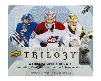 Coming Soon: 2017/18 Upper Deck Trilogy Hockey ($5.50 PER TEAM, all teams in, all cards ship) ID 1718TRILOHOCK102