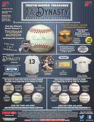 2017 Tristar New York Dynasty Autographed Baseball ($7.50 per spot, 21 spots) ID NYBASEBALL111