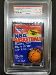 1986 FLEER PACK, ONE PACK ($100 per card, 12 total cards, 11 cards plus one sticker) ID 86FLEERPACK101