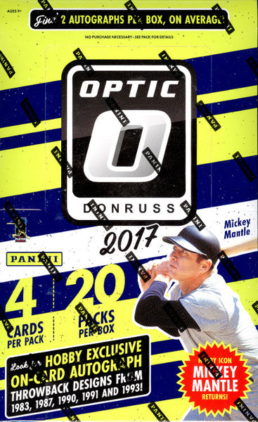 Friday: 2017 Optic Baseball ALL CARDS SHIP ($7.25 per team, 27 total spots) ID 17OPTICBB118