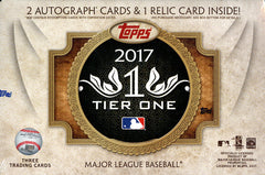 PICK YOUR TEAM 2017 Topps Tier One Baseball Hobby Box (YANKEES RANDOM BONUS) ID 17TTIERJULY315