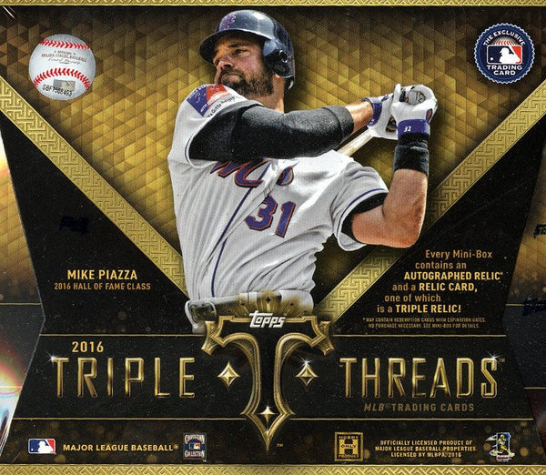2016 Topps Triple Threads Baseball Hobby Box ($9.99 per team, 28 spots) ID 16TTTBBOCT904