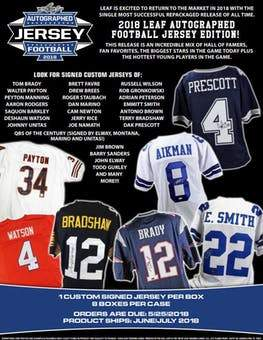 2 JERSEY BREAK: 2018 Leaf Autograph Football Jersey PICK YOUR TEAM ID 18LEAFJERSPYT203