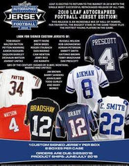 2 JERSEY BREAK: 2018 Leaf Autograph Football Jersey PICK YOUR TEAM ID 18LEAFJERSPYT205