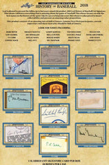 2 box break: 2018 Leaf History of Baseball Cut Signature ID 18LEAFHOB510