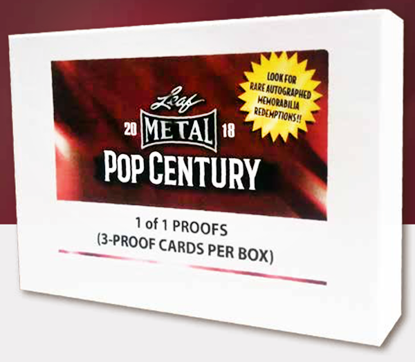 2 BOX BREAK: 2018 Leaf Metal Pop Century regular and Pop Century proof box ID 18LEAFPOP102