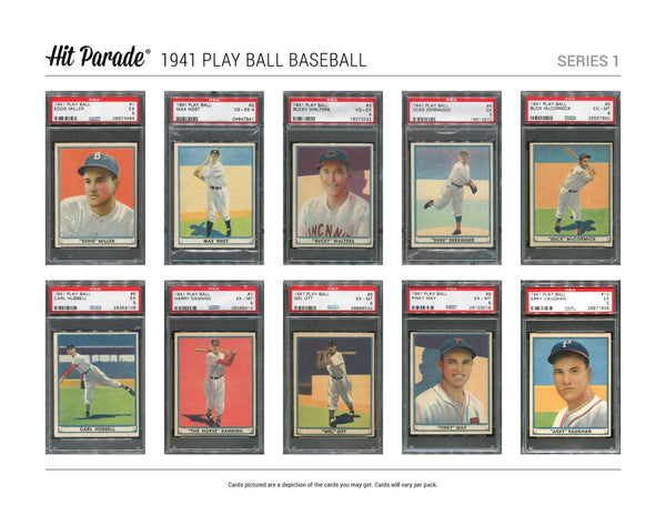 2018 Hit Parade Baseball 1941 Play Ball Edition Series 1, EACH SPOT GETS 3 PLAYERS ID 41PLAYBALL105