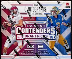 INSTANT PACK RIP: 2018 Panini Contenders Draft Football, 6 AUTOS PER BOX, 6 TOTAL PACKS ($35.50 PER PACK) ID 18NFLCONDRAFTPR201