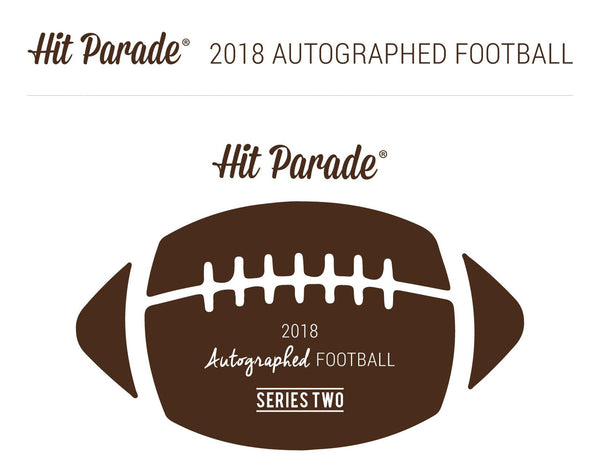 2018 Hit Parade Autographed Full Size Football Hobby Box - Series 2 - Aaron Rodgers & Brett Favre DUAL SIGNED! ID HPAFSFB112