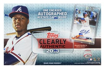 Coming Soon: 2 BOX BREAK: 2018 Topps Clearly Authentic Baseball Box ID 18TOPPSCLARBB203