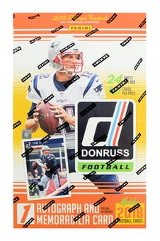 2018 Panini Donruss Football Hobby Box $4.25 per spot (ALL TEAMS IN , ALL CARDS SHIP) ID 18PDNFL101