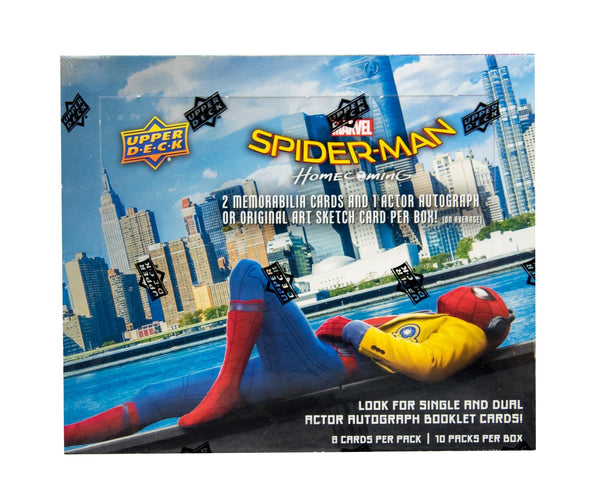 PACK DESIGNATION BREAK: Marvel Spider-Man Homecoming Hobby Box (Upper Deck 2017) ($16.99 per pack, 10 total packs) ID HOMECOMING103